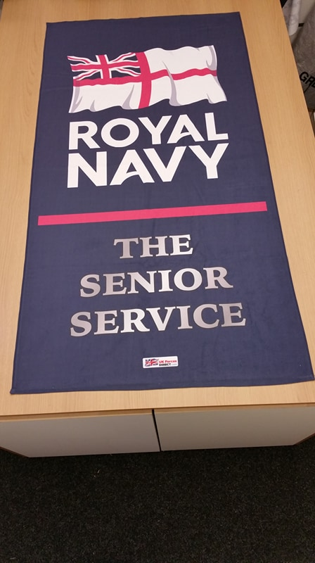 Royal Navy Senior Service Beach Towels Uk Forces Direct