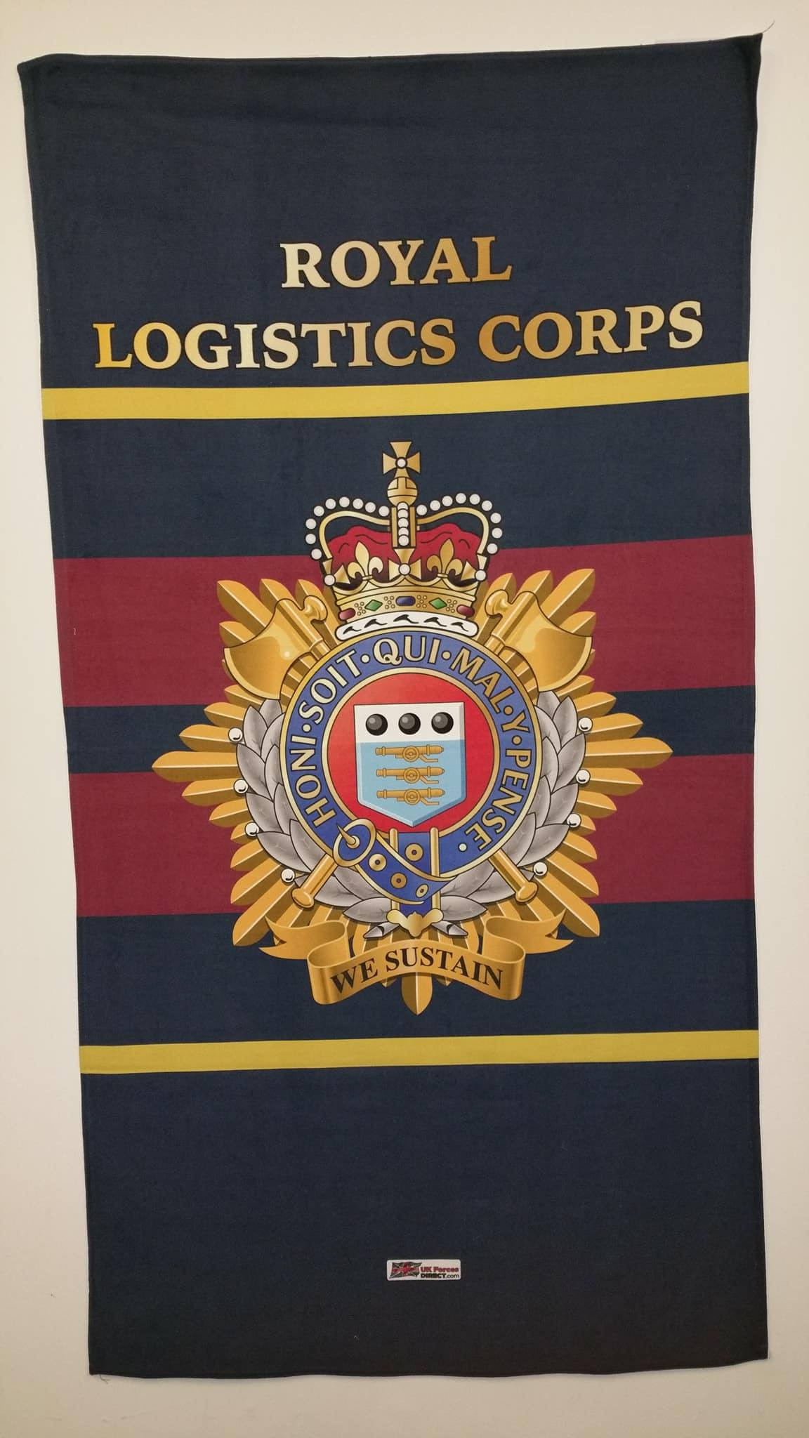 Royal Logistics Corps Beach Towel Uk Forces Direct