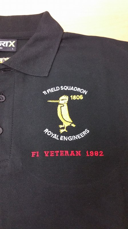 11 Field Squadron RE (F I VETERAN) Embroidered Polo Shirt (Back to the 80s) 42ae3cb71020