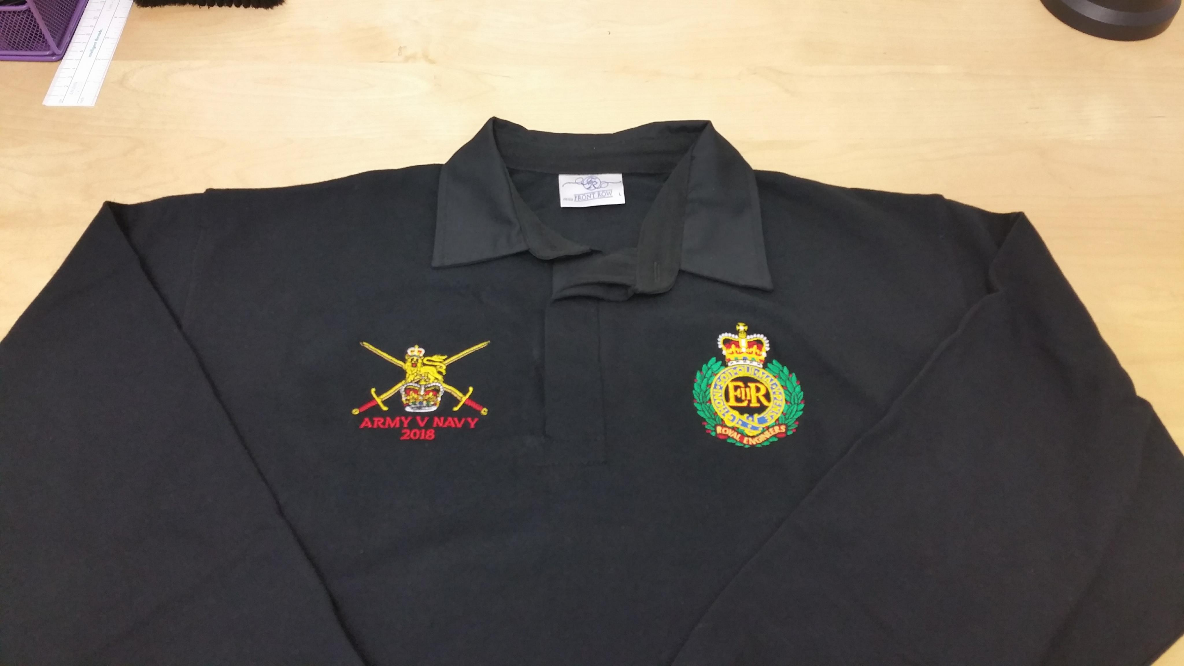 ARMY v NAVY 2018 ROYAL ENGINEERS / ARMY Rugby Shirt - UK ...