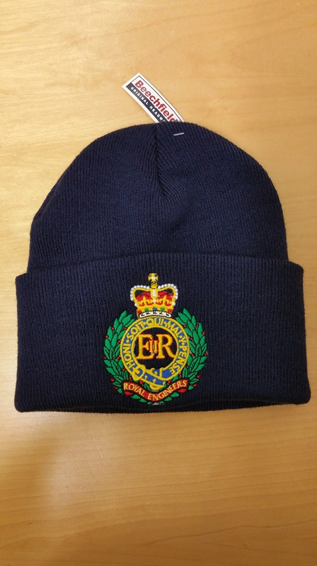 c3671ed48f9 ROYAL ENGINEERS EMBROIDERED FULL COLOUR CUFFED BEANIE HATS - UK ...