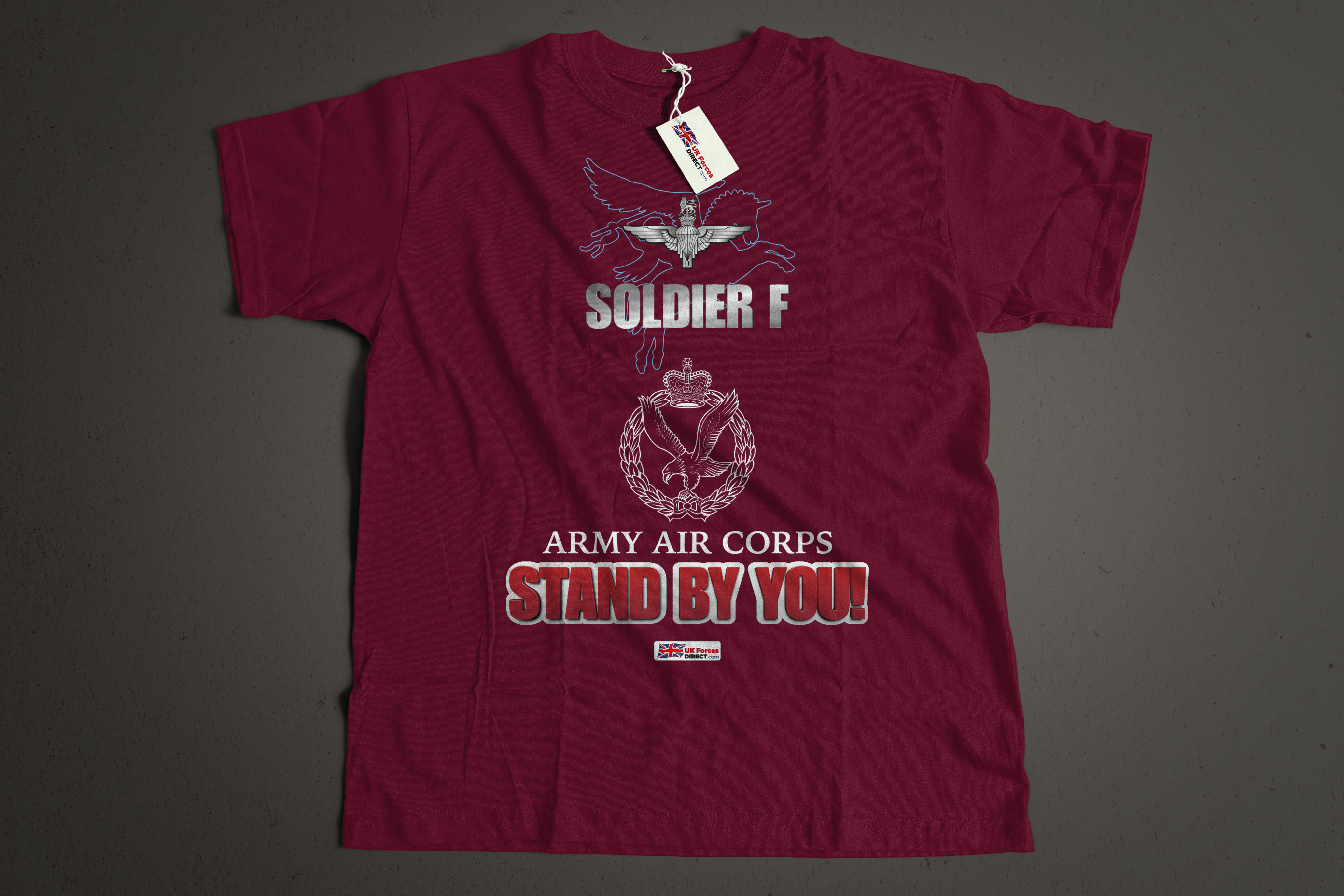 3510b334 ARMY AIR CORPS / SOLDIER F - STAND BY YOU Printed tee shirt. - UK ...